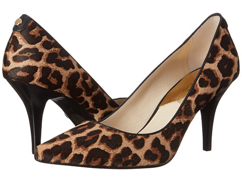 MICHAEL Michael Kors - MK-Flex Mid Pump (Natural Cheetah Haircalf/Vachetta) High Heels