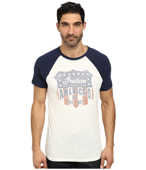 Lucky Brand - Indian Shield Graphic Tee (Navy Multi) Men