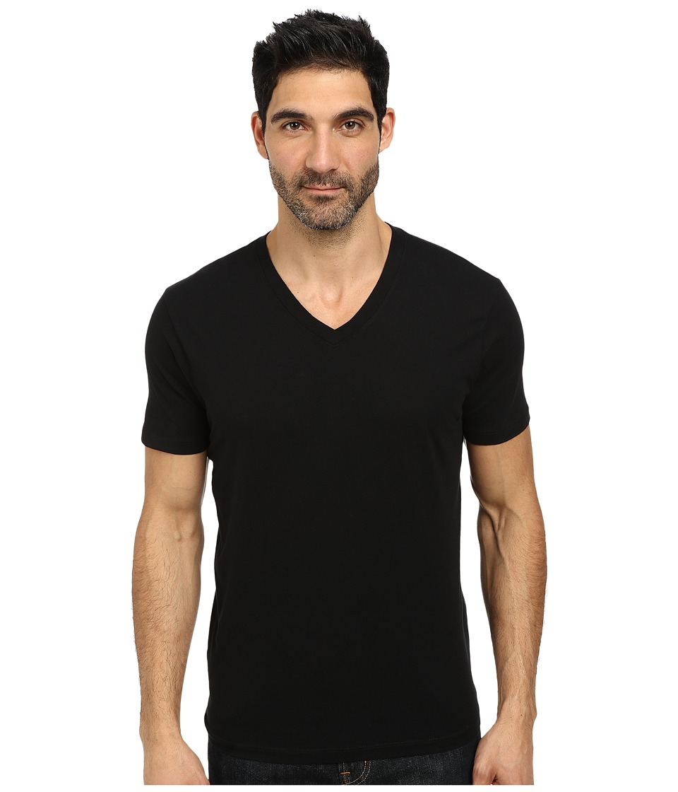 Lucky Brand - Basic V-Neck Tee (Jet Black) Men's T Shirt
