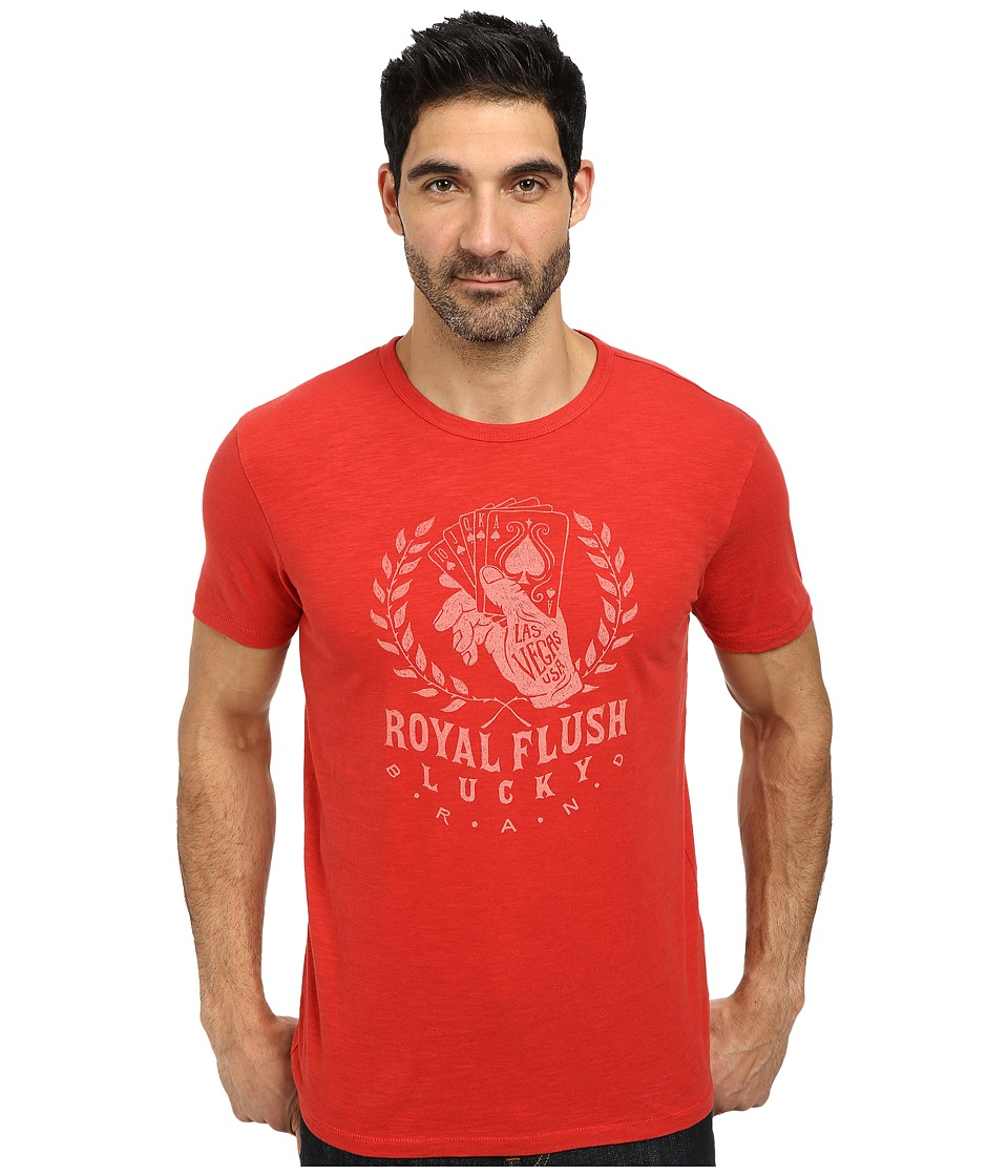 Lucky Brand - Royal Flush Graphic Tee (Pompeian Red) Men's T Shirt