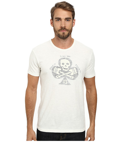 Lucky Brand - Skull Pistons Graphic Tee (Marshmallow) Men's T Shirt