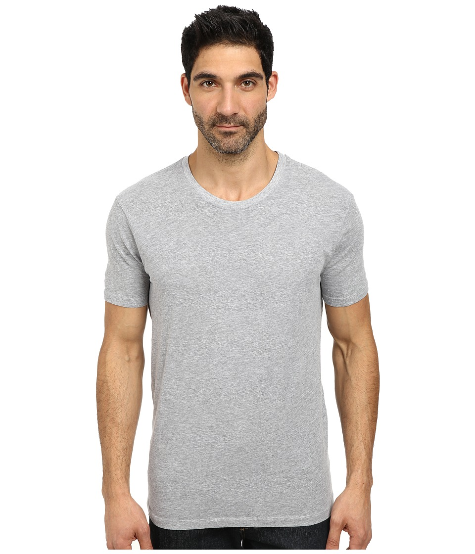 Lucky Brand - Basic Crew Neck Tee (Heather Grey) Men's T Shirt