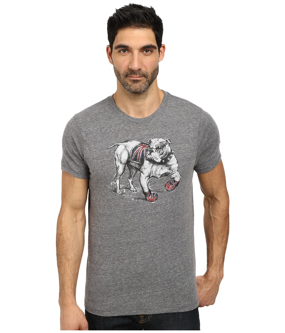 Lucky Brand - Bulldog Graphic Tee (Grey) Men