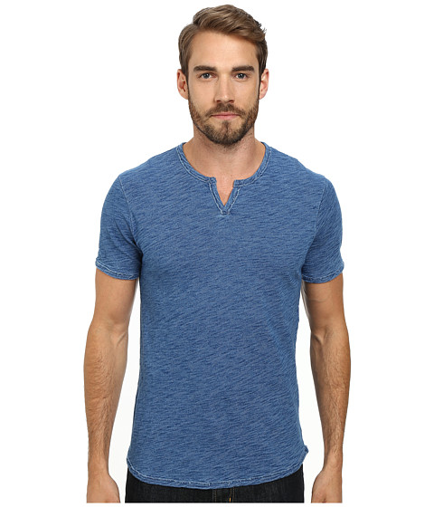 Lucky Brand - Indigo Notch Tee (Indigo) Men