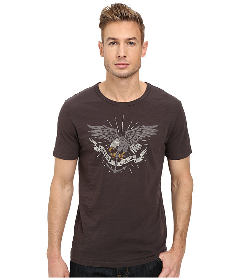 Lucky Brand - Eagle Anchor Graphic Tee (Black Mountain) Men's T Shirt