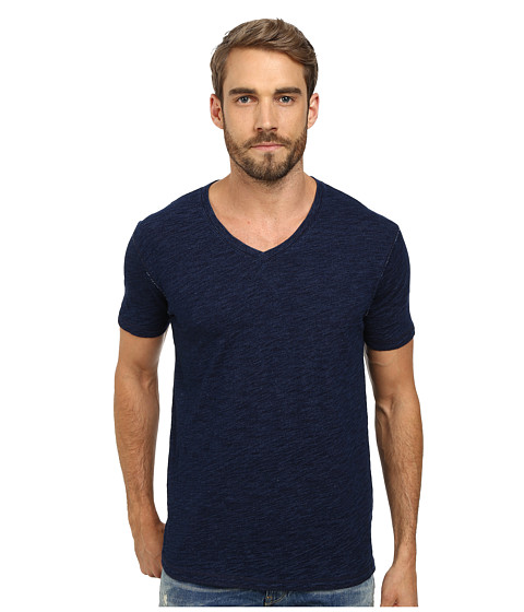 Lucky Brand - Indigo V-Neck Tee (Indigo) Men