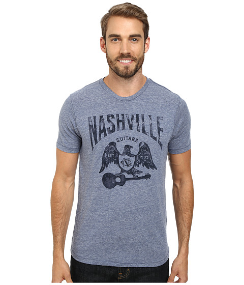 Lucky Brand - Nashville Eagle Graphic Tee (Blue) Men