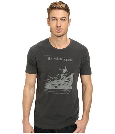 Lucky Brand - Endless Surf Graphic Tee (Black Mountain) Men