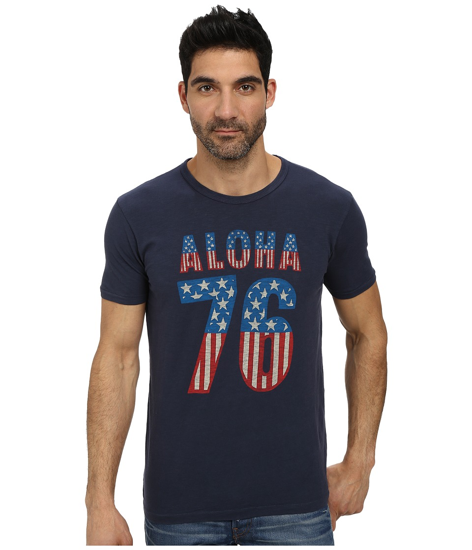 Lucky Brand - Aloha 76 Graphic Tee (American Navy) Men's T Shirt