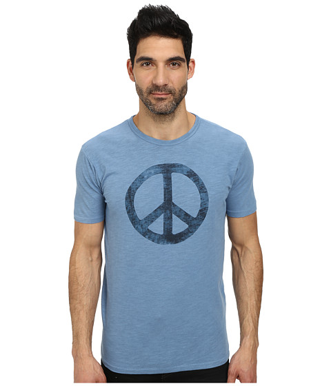 Lucky Brand - Peace Sign Graphic Tee (Coronet Blue) Men's T Shirt