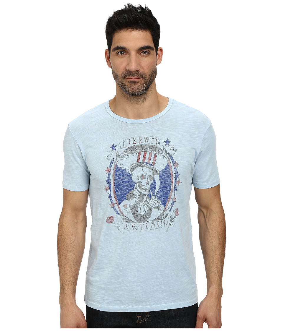 Lucky Brand - Uncle Sam Skull Graphic Tee (Spring Blue) Men's T Shirt