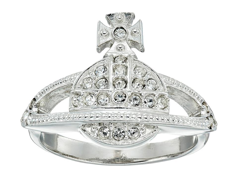 Vivienne Westwood - Mini Orb Ring (Clear Crystal) Ring