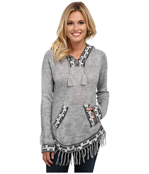 Scully - Eulalie Hooded Soft Sweater (Grey) Women's Sweater
