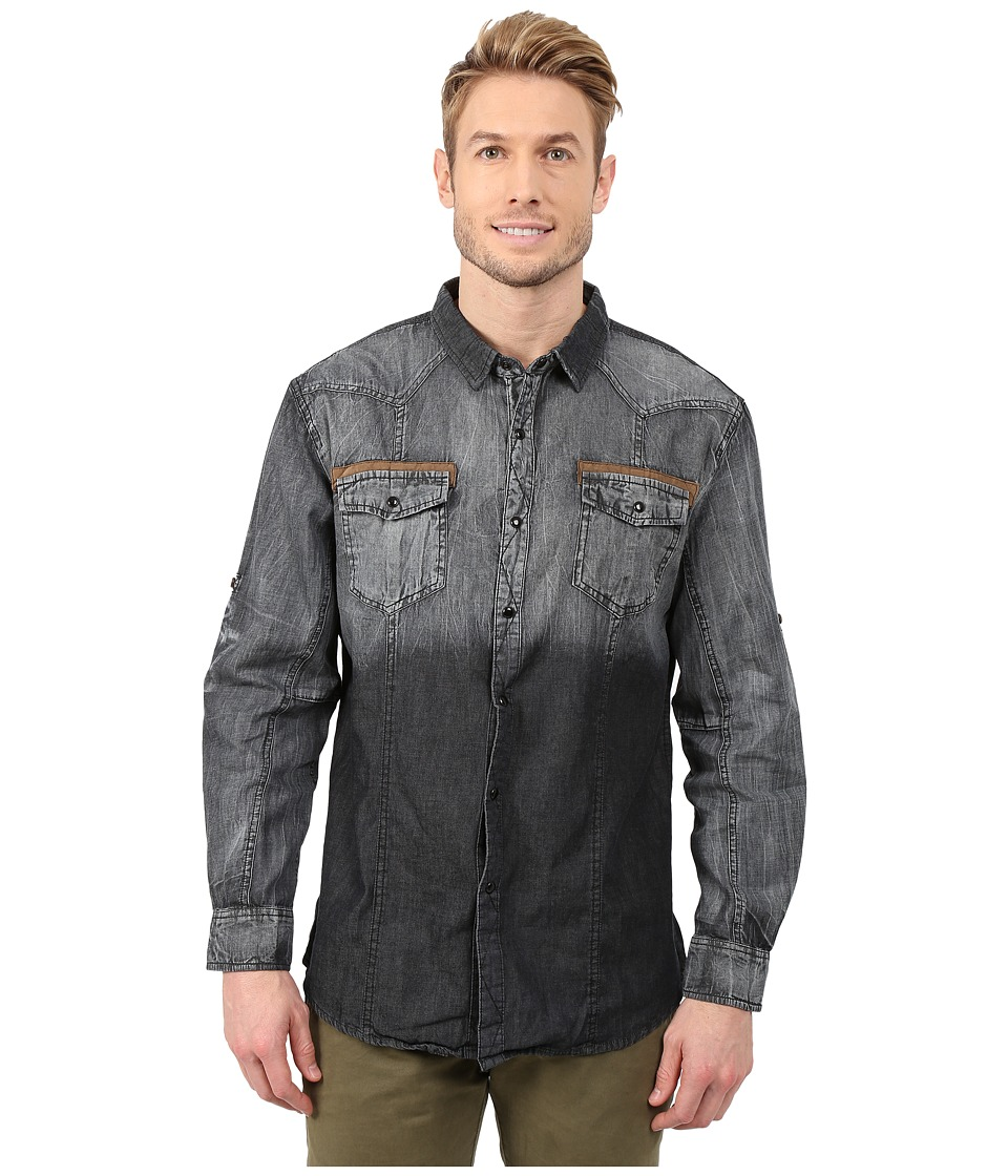 Scully - Darrin Denim Shirt (Charcoal) Men's Long Sleeve Button Up