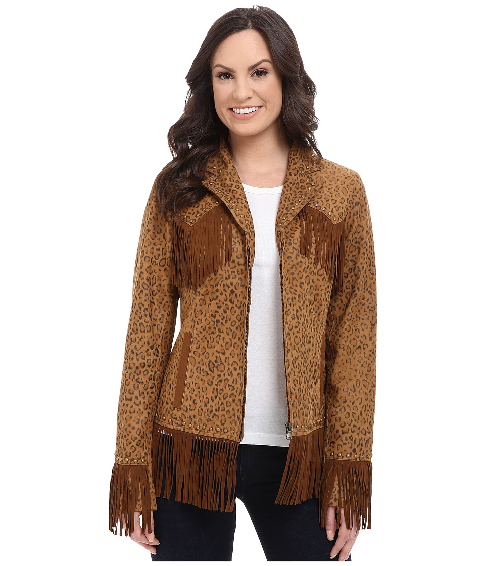 Scully - Sully Evania Soft Little Fringe Number (Leopard) Women's Clothing