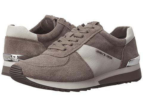 MICHAEL Michael Kors - Allie Trainer (Steel Grey Sport Suede/Saffiano/Patent) Women's Lace up casual Shoes