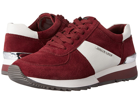 MICHAEL Michael Kors - Allie Trainer (Merlot Sport Suede/Saffiano/Patent) Women's Lace up casual Shoes