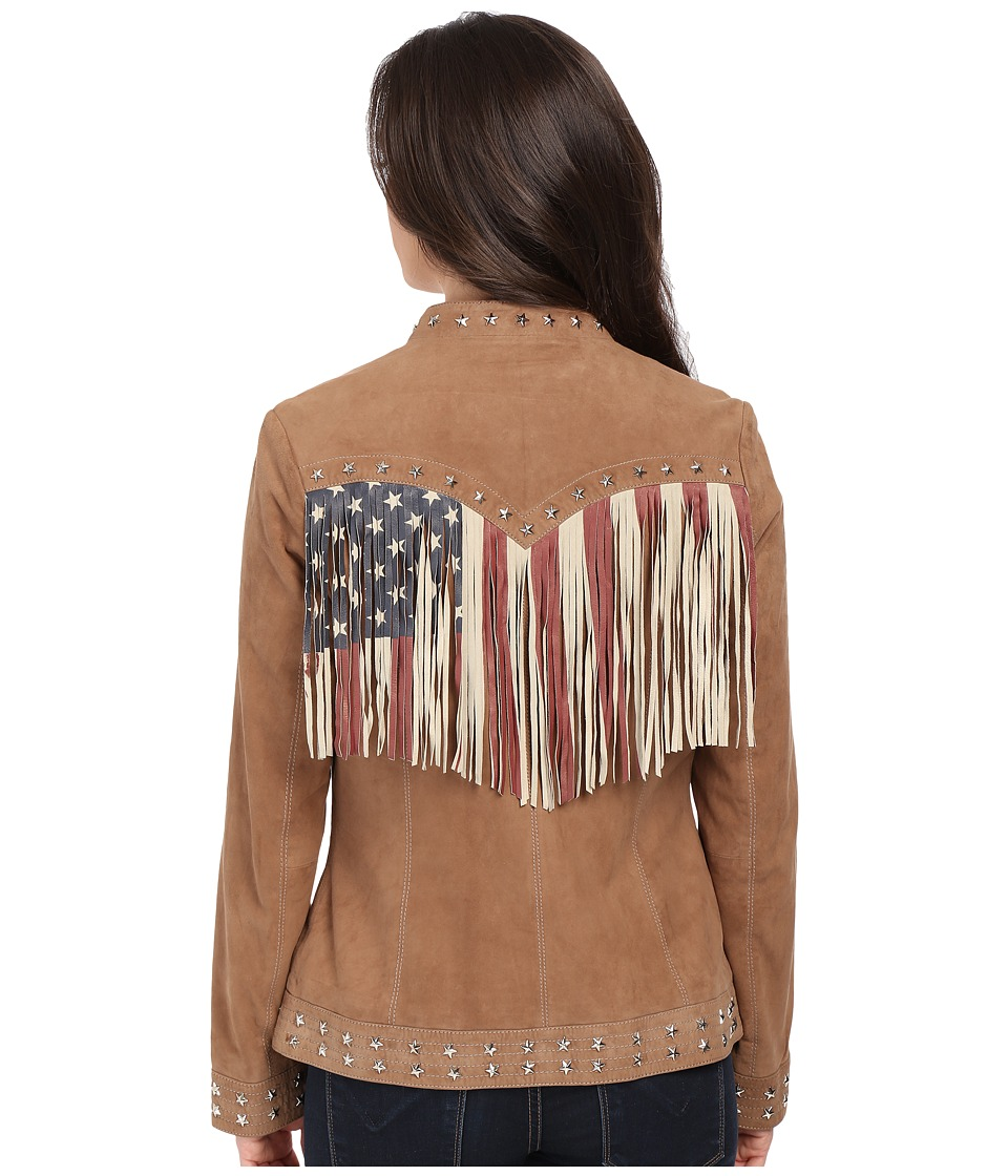 Scully - Star Studded Flag Jacket (Sand) Women's Coat