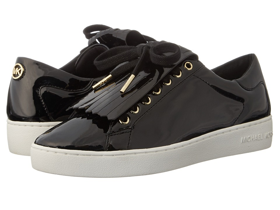 MICHAEL Michael Kors - Keaton Kiltie Sneaker (Black Patent) Women's Lace up casual Shoes