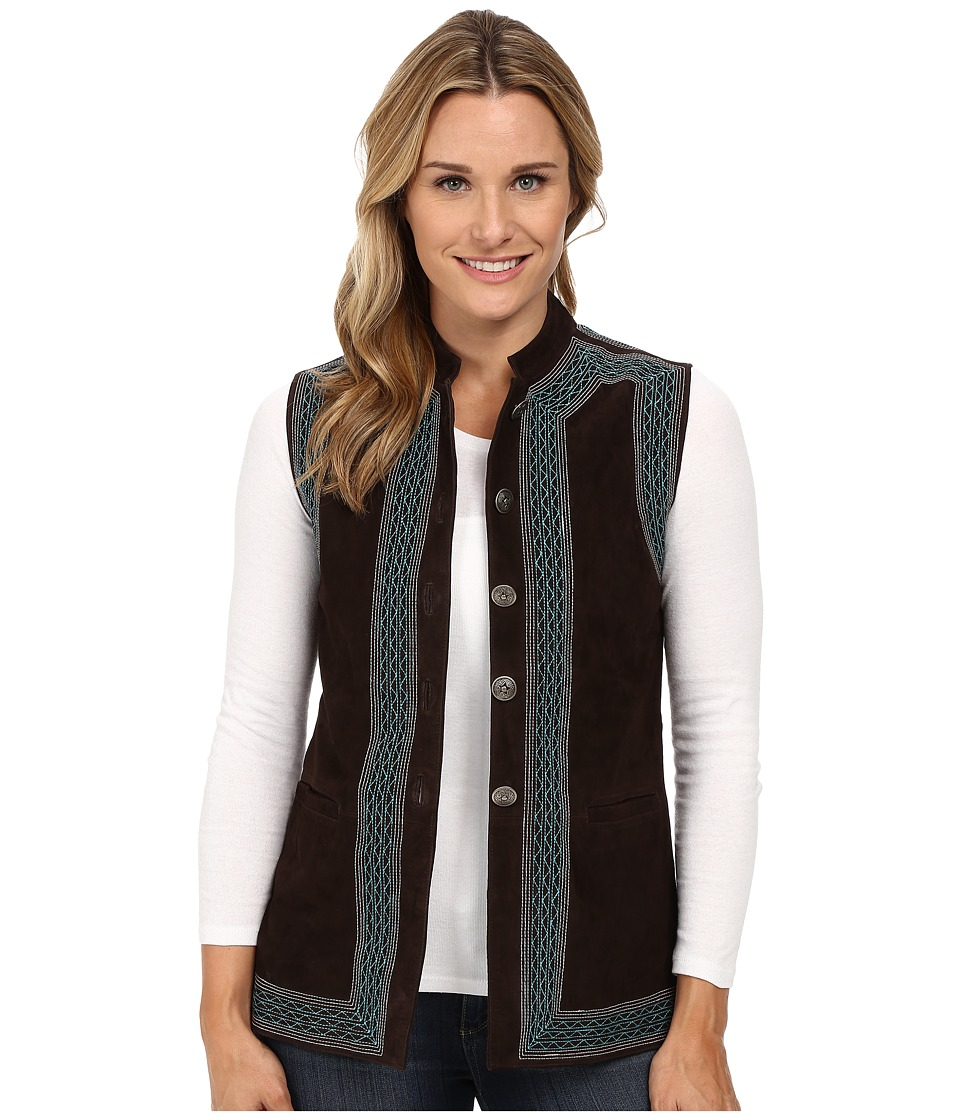 Scully - Liza Premium Ultra Soft Suede Vest (Brown) Women's Vest