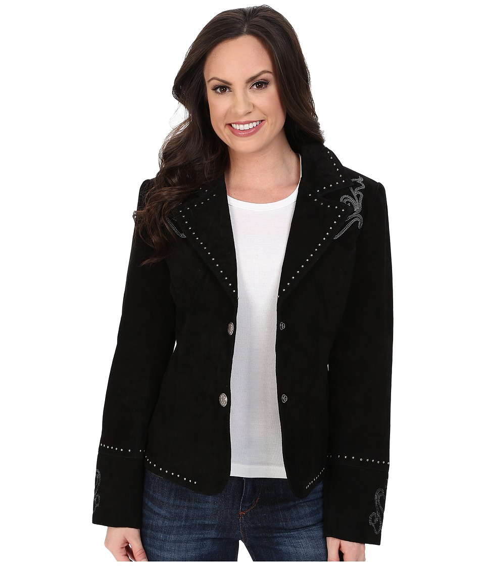 Scully - Kaida Boot Stitch Studded Jacket (Black) Women's Coat