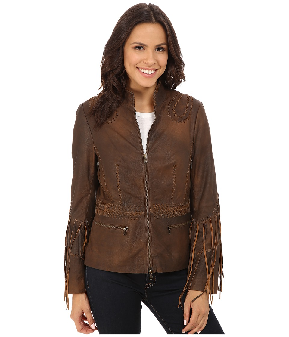 Scully - Carron Sexy Fringe Sleeve Jacket (Brown) Women's Coat