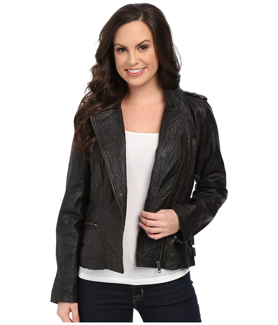 Scully - Lolita Fine Leather Jacket (Black) Women's Coat