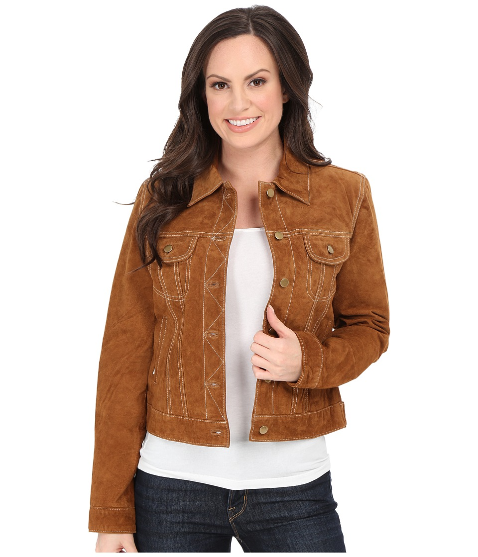 Scully - Lorrah Cute Suede Jean Jacket (Brown) Women's Jacket