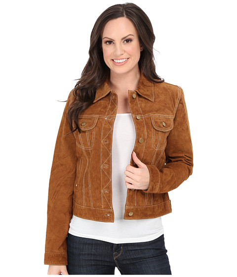 Scully - Lorrah Cute Suede Jean Jacket (Brown) Women
