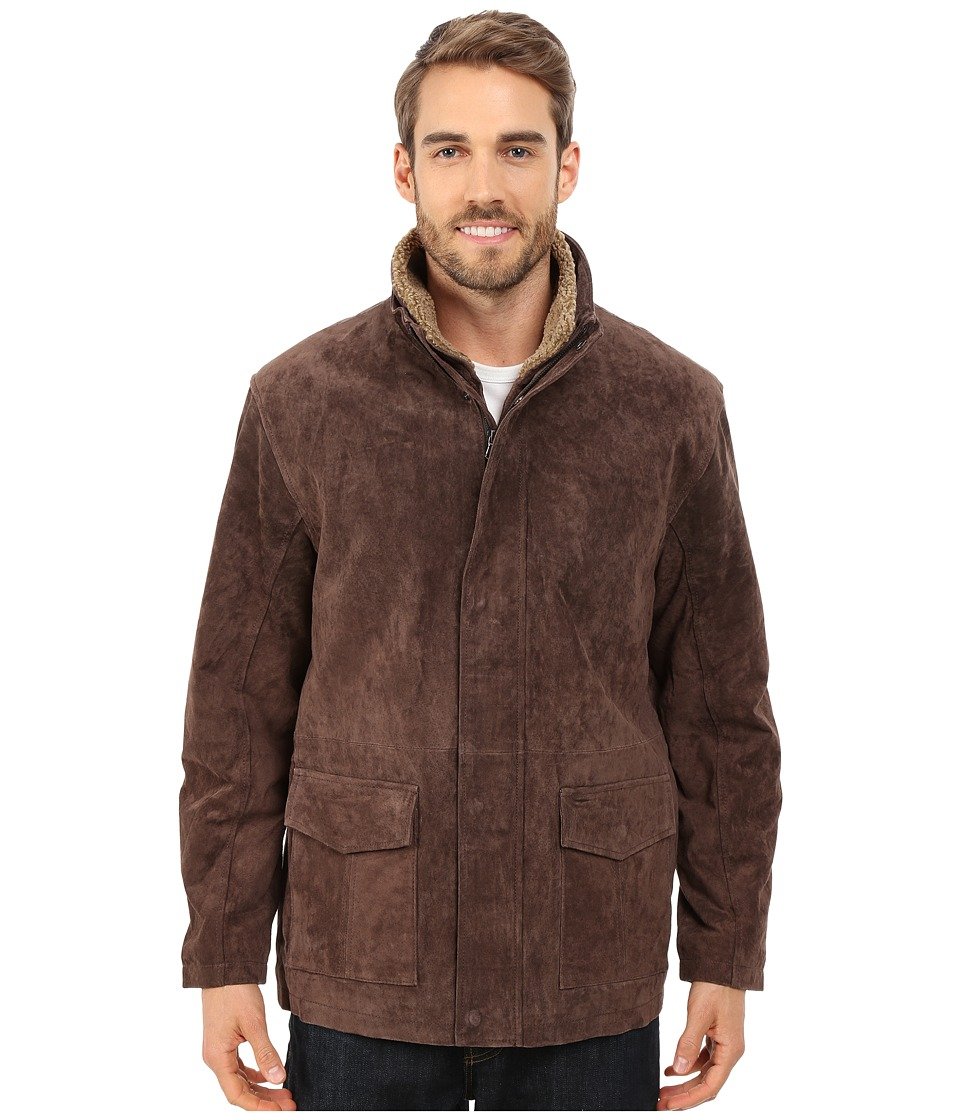 Scully - Daniel Comfortable Suede Jacket (Brown) Men