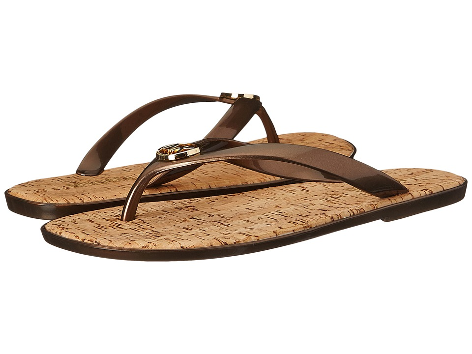 MICHAEL Michael Kors - Jet Set MK Jelly (Bronze Pvc) Women's Sandals