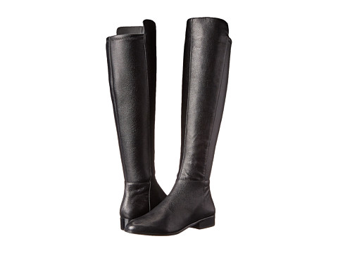MICHAEL Michael Kors - Bromley Flat Boot (Black Tumbled Leather/Stretch Nappa) Women's Zip Boots