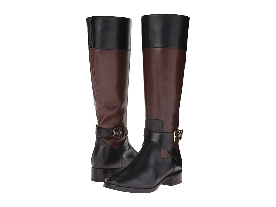 MICHAEL Michael Kors - Bryce Tall Boot (Black/Mocha Vachetta) Women