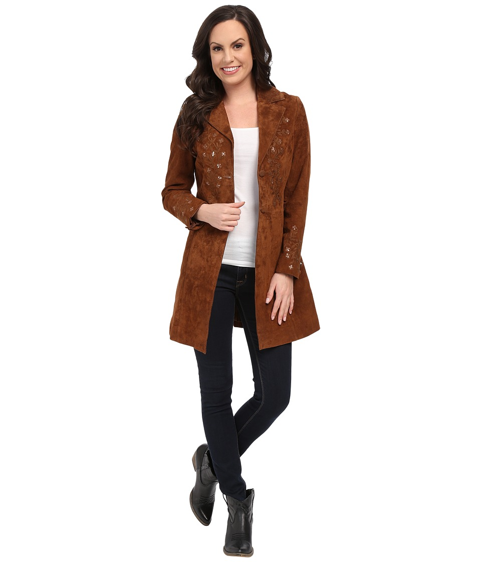 Scully - Sequence Long Jacket (Brown) Women's Coat