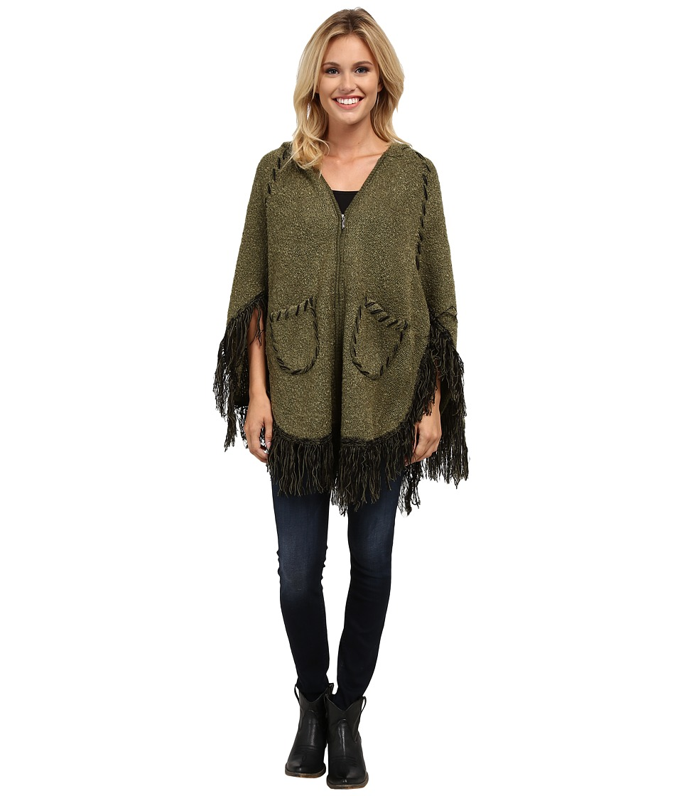 Scully - Euphrates So Soft Poncho (Olive) Women's Coat