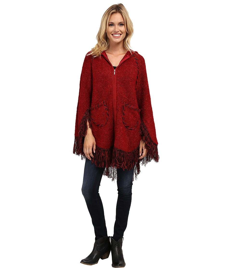 Scully - Euphrates So Soft Poncho (Burgundy) Women's Coat