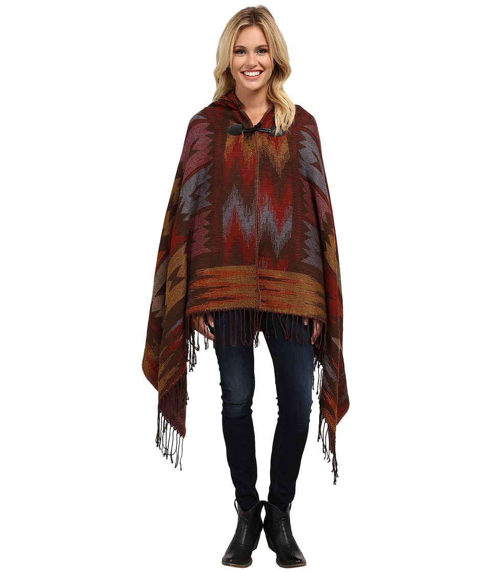 Scully - Galena Soft Poncho (Red) Women's Coat