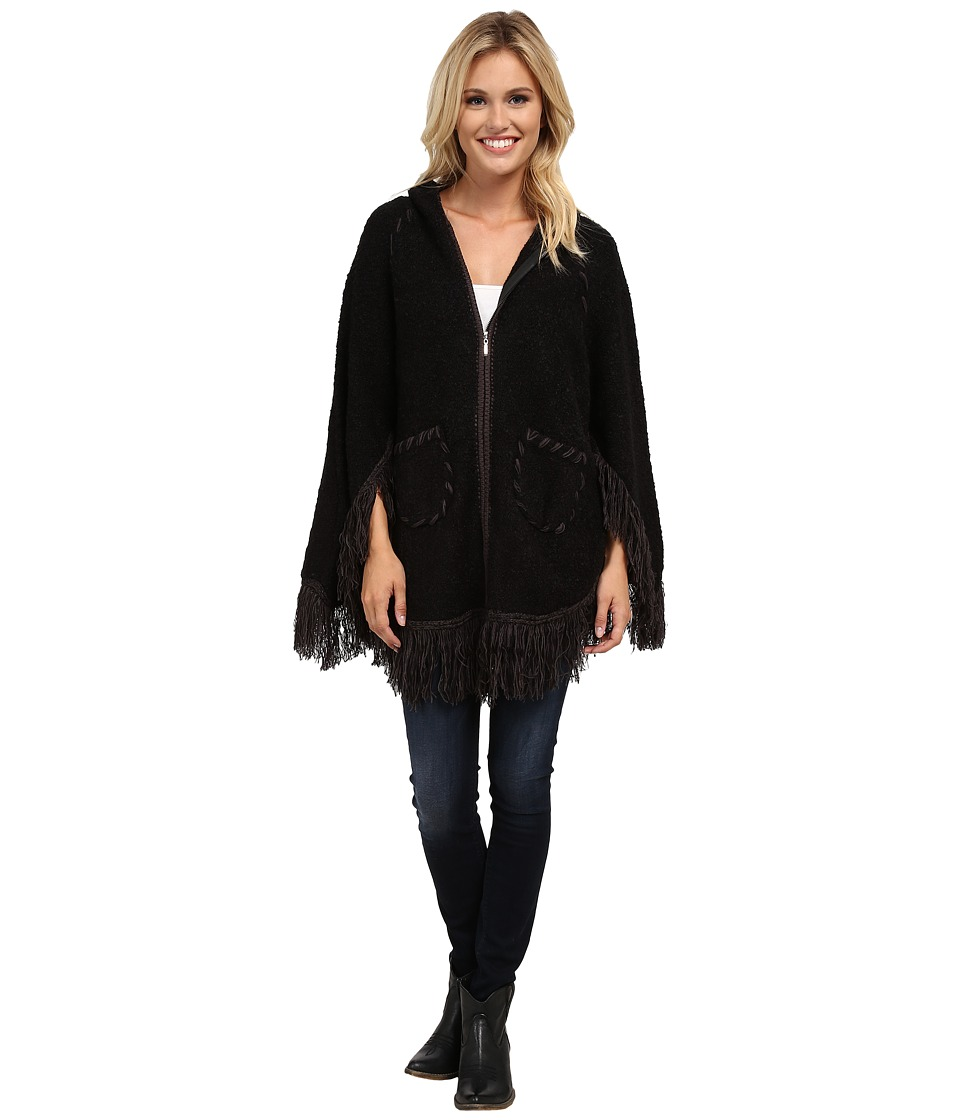 Scully - Euphrates So Soft Poncho (Black) Women's Coat