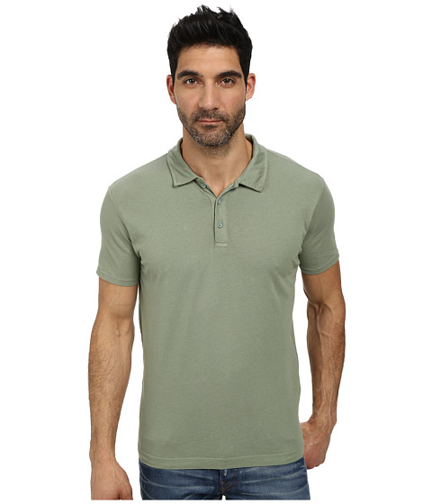 Lucky Brand - Paperweight Polo (Lily Pad) Men's Short Sleeve Pullover