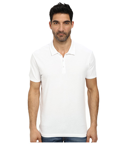 Lucky Brand - Paperweight Polo (Bright White) Men's Short Sleeve Pullover