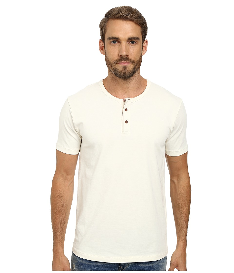 Lucky Brand - Solid Jersey Henley (Marshmallow) Men
