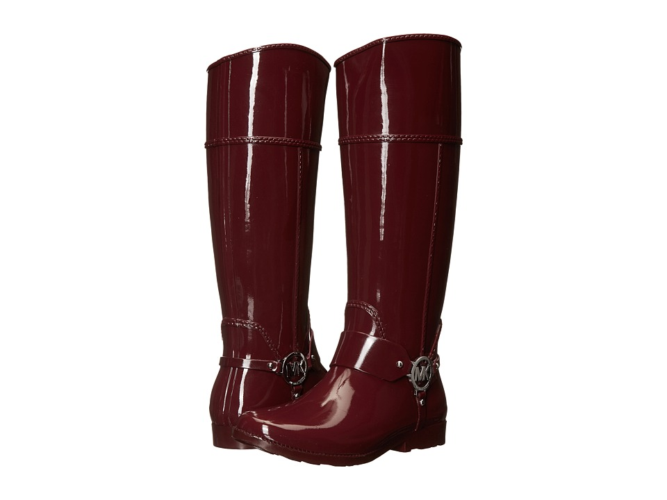 MICHAEL Michael Kors - Fulton Harness Tall Rainboot (Merlot Rubber) Women's Pull-on Boots