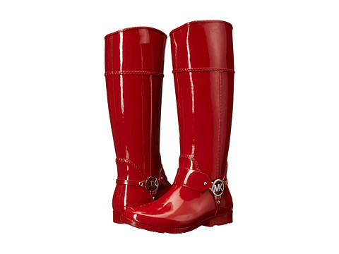 MICHAEL Michael Kors - Fulton Harness Tall Rainboot (Red Rubber 1) Women's Pull-on Boots