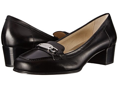 MICHAEL Michael Kors - Lainey Mid Loafer (Black Shiny Smooth Calf) Women