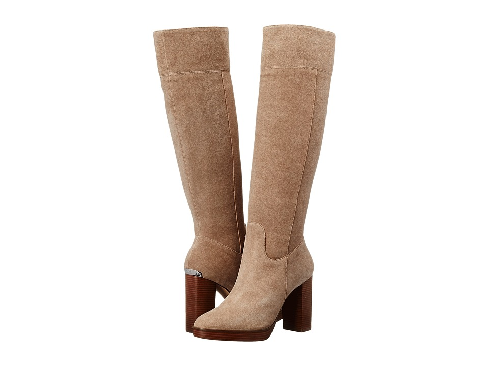 MICHAEL Michael Kors - Regina Platform Boot (Dark Khaki Sport Suede) Women