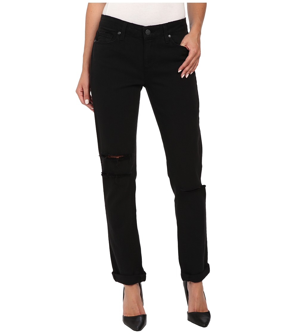 Paige Jimmy Jimmy Skinny in Vintage Black Destructed (Vintage Black Destructed) Women's Jeans