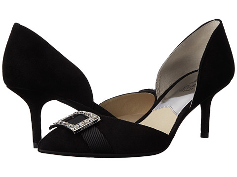 MICHAEL Michael Kors - Shirley Mid Pump (Black Kid Suede) Women's 1-2 inch heel Shoes