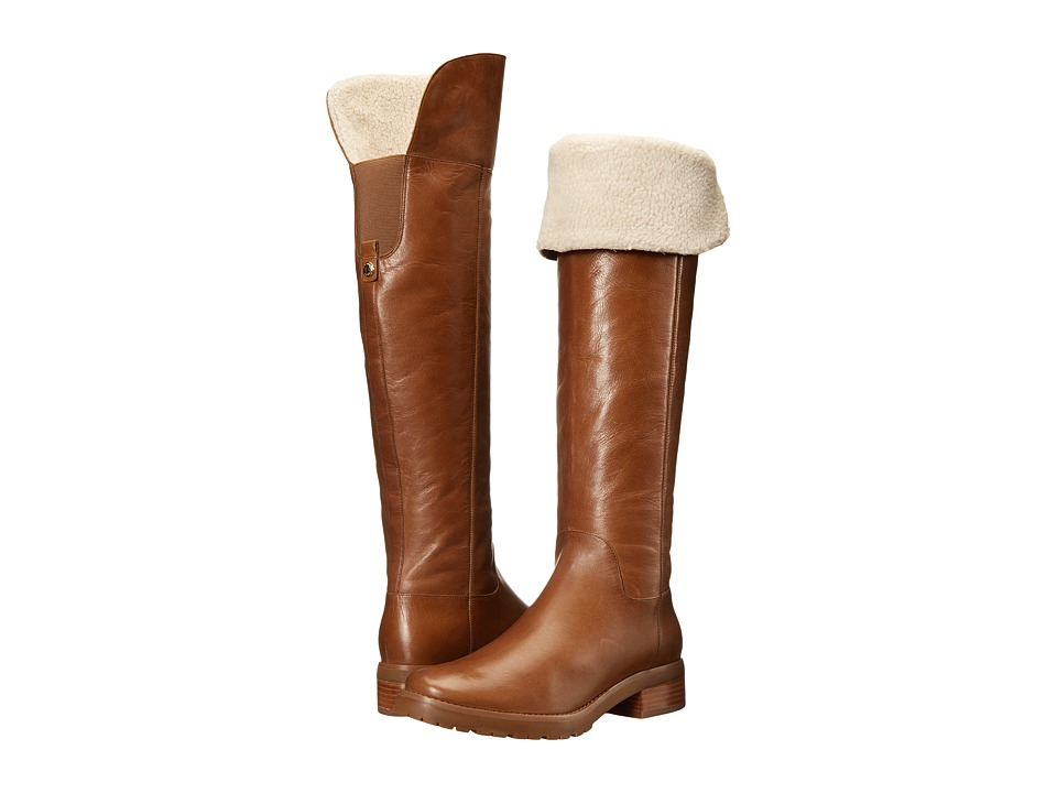 MICHAEL Michael Kors - Whitaker Tall Boot (Dark Caramel Distressed Vachetta/Faux Shearling) Women