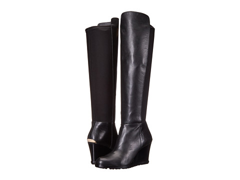 MICHAEL Michael Kors - Woods Wedge Boot (Black Nappa/Sensitive Stretch) Women