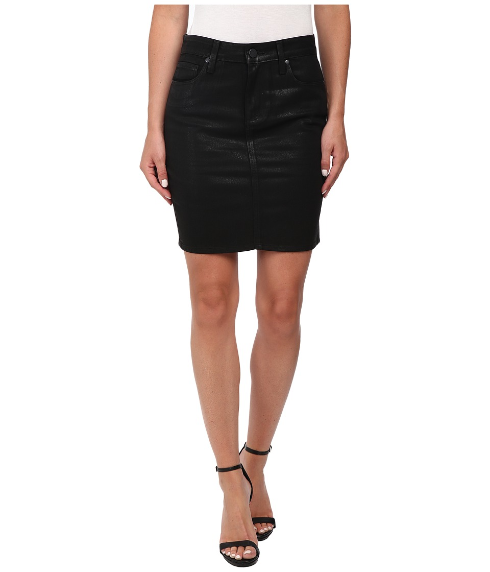 Paige - Chantelle Skirt (Black Silk) Women's Skirt